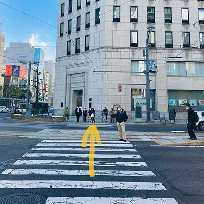 横断歩道を渡ると中国銀行さんの建物です。