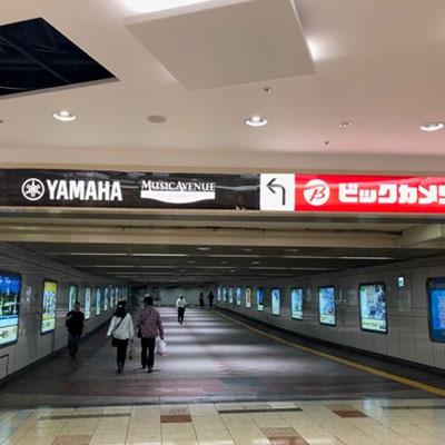 JR岡山駅 地下から 直進し突き当たりを右に曲がります。